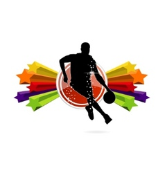 basketball team sign isolated vector image
