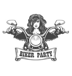 Biker party handdrawn vector