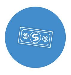 Bill dollar money icon vector