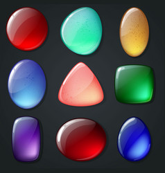 Bright realistic gemstones set vector
