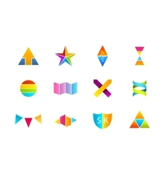 Colorful logos sat vector