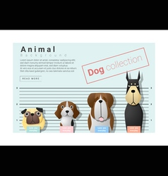 Cute animal family background with Dogs 3 vector image
