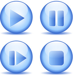 Elements buttons set vector image vector image