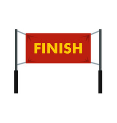 Finish line icon simple style vector