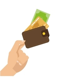 hand holding credit or debit cards icon vector image