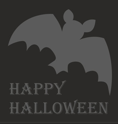Happy halloween party card with hand drawn bat vector