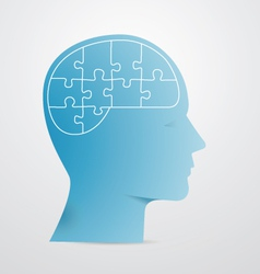 Head puzzle vector