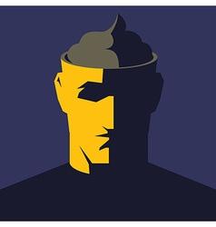 Head with poop inside vector image