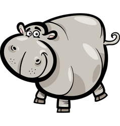 Hippo or Hippopotamus Cartoon Character vector image