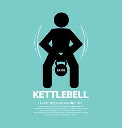 Kettlebell fitness exercising sign vector