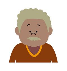 man male cartoon portrait senior person character vector image vector image