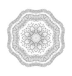 Mandala Round oriental pattern in indian style vector image