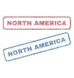 North america textile stamps vector