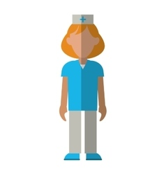 Nurse uniform hat cross attention healthcare vector
