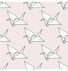 Origami crane seamless pattern vector