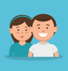 parent couple avatars characters vector image vector image