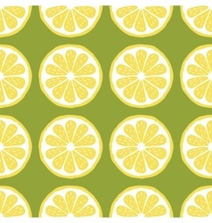 seamless pattern slices of lemon vector image