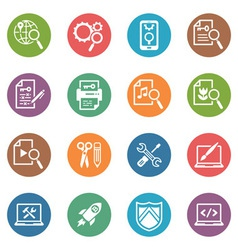 SEO Internet Marketing Icons Set 1 - Dot Series vector image vector image