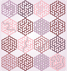 Set of hexagonal maze vector