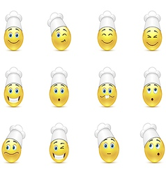 Set of kitchen smilies vector