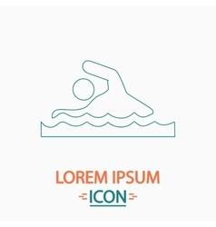 Swimming computer symbol vector