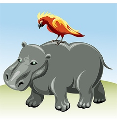 The hippopotamus vector image vector image