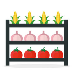 Vegetables market stall fresh vector