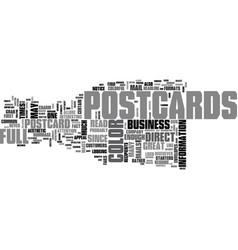 what makes full color postcards so great text vector image vector image