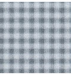 Seamless textured tartan Dark gray cells on a vector image
