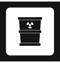 Bucket for hazardous waste icon simple style vector