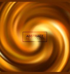 Golden swirling caramel whirlpool vector