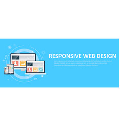 responsive web design including laptop desktop vector image