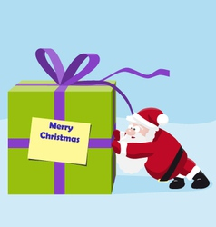 Santa move a great gift vector