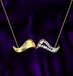 jewel mustache vector image
