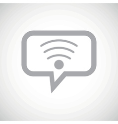 Wi-fi grey message icon vector