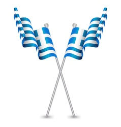 Greece hellenic republic waving flag vector
