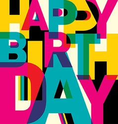 Typographic birthday card vector