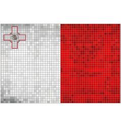 Abstract mosaic flag of malta vector