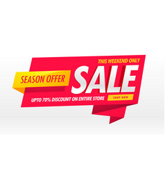 Amazing sale banner promotional template for vector