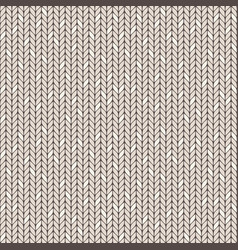 Beige knitted seamless pattern vector