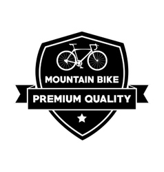 Bike inside shield and healthy lifestyle design vector