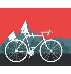 Bike with mountain background image vector