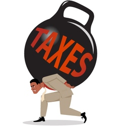 Burden of taxes vector image vector image
