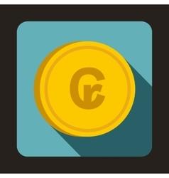 Coin cruzeiro icon flat style vector
