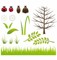 design elements spring- nature vector image vector image