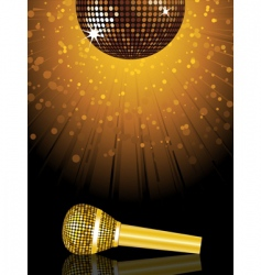 disco ball and microphone vector image