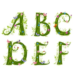 foliage letter 1 vector image