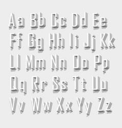 Font 3d set letter vector