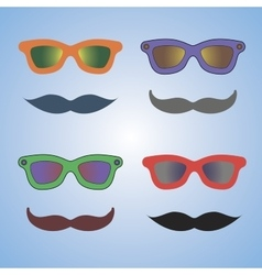 Glasses and moustache vector