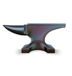 Iron Anvil isolated on white background vector image